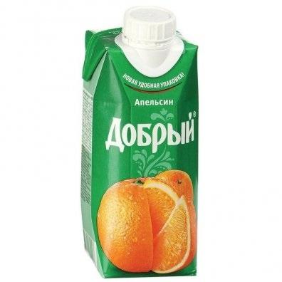 Нектар  Добрый  апельсин 0.33л.