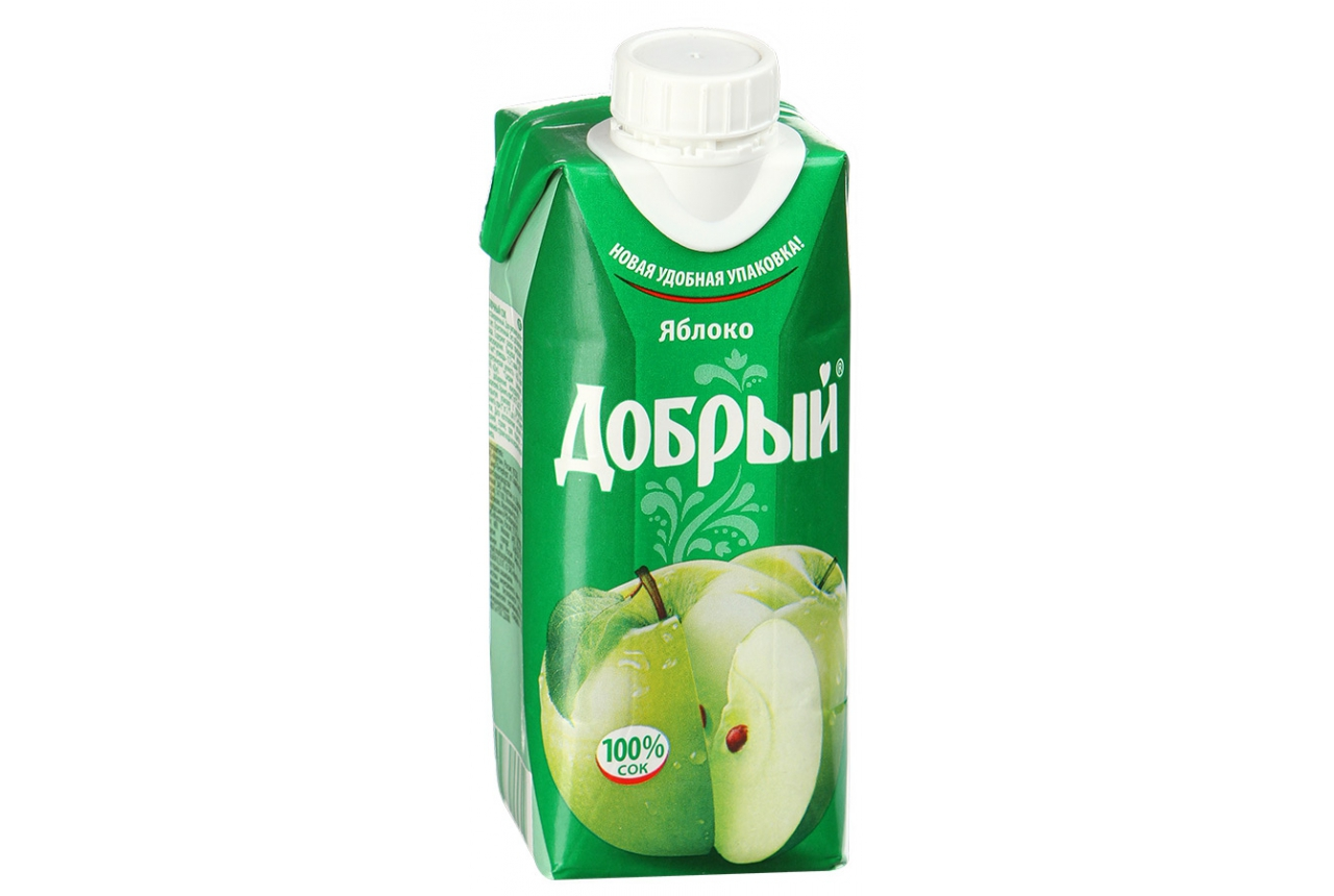 Нектар  Добрый  персик-яблоко 0.33л.