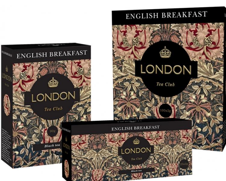 Чай  Лондон Английский Завтрак  черный 100шт*2гр.