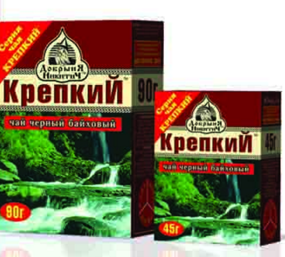Чай черный  Крепкий  среднелистовой 90гр.