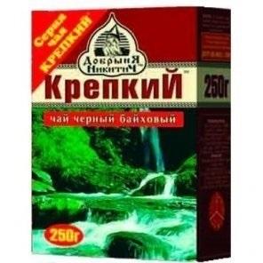 Чай черный  Крепкий  среднелистовой 250гр.