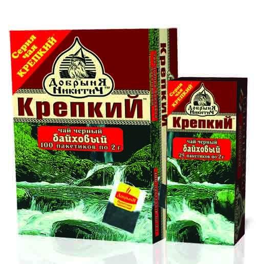 Чай  Крепкий  черный 100шт*2гр.