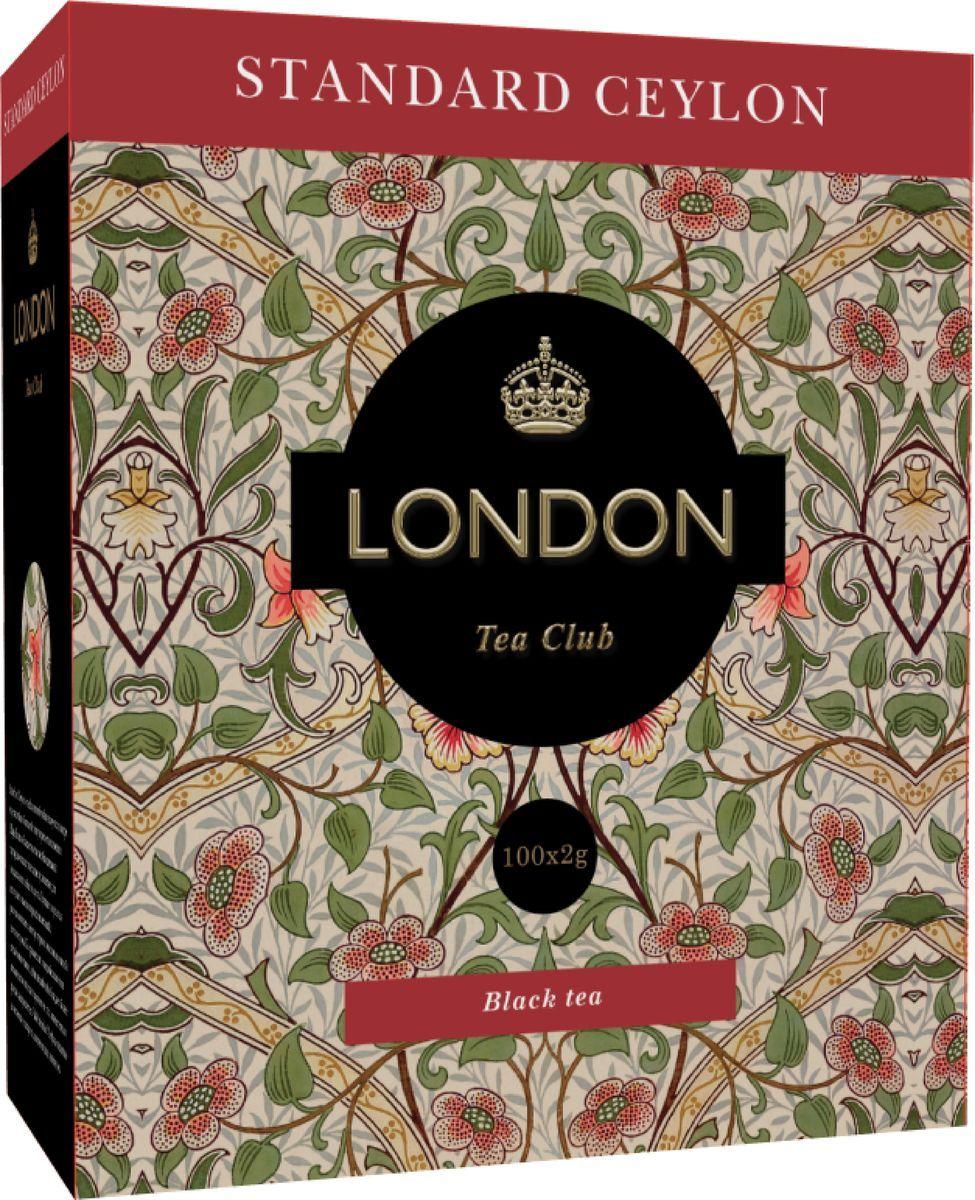 Чай черный  Лондон Стандарт Цейлон  100*2гр