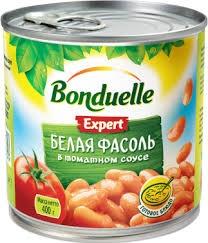 Фасоль  Бондюэль  белая в томатном соусе 425мл/400гр