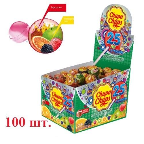 Чупа-Чупс  ассорти (фрукт+кола) 12 гр.