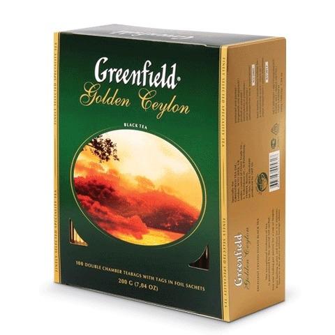 Чай  Гринфилд Голден Цейлон  100шт*2гр.