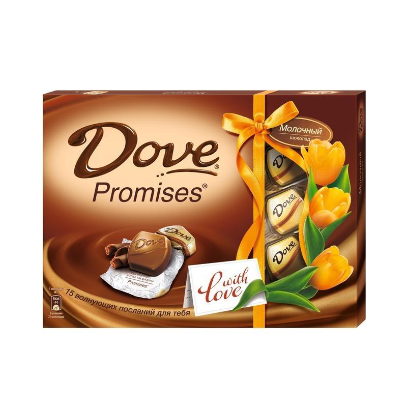 Набор конфет  Dove Promises  молочный шоколад 120гр