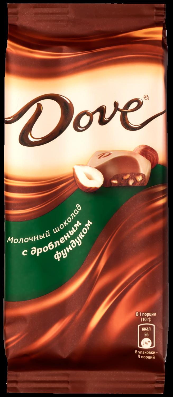 Молочный шоколад  Dove  фундук 90гр