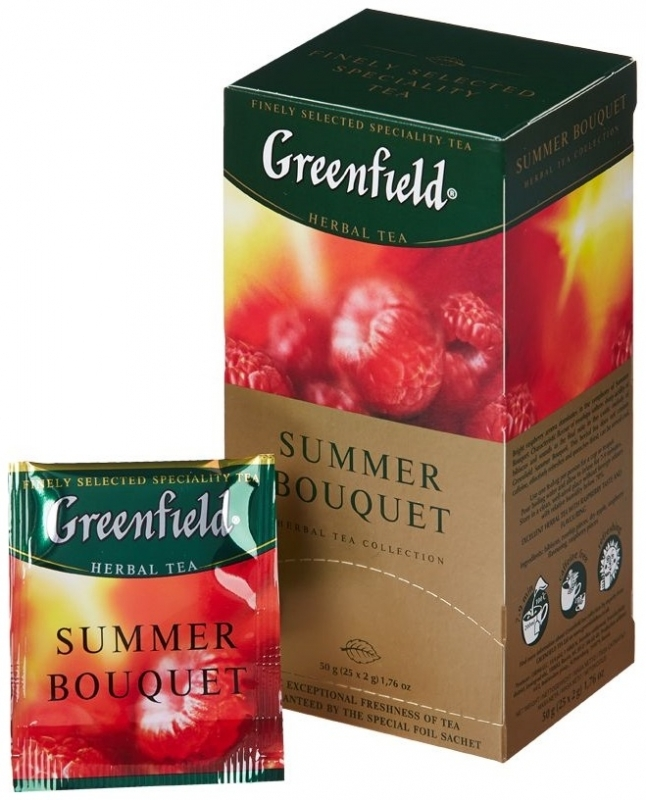 Чай  Гринфилд  малина 25*2гр.