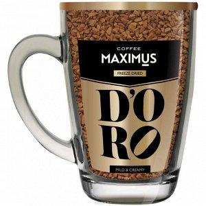 Кофе в кружке  D`oro  в стеклянной кружке 70гр.