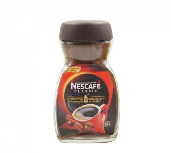 Кофе  Нескафе  Классик растворимый гранулированный 95гр.