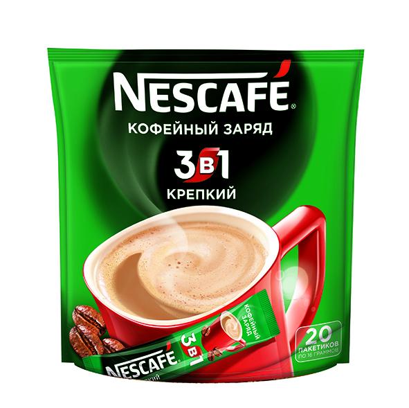 Кофе  Нескафе  3в1 Крепкий 20шт*16гр.