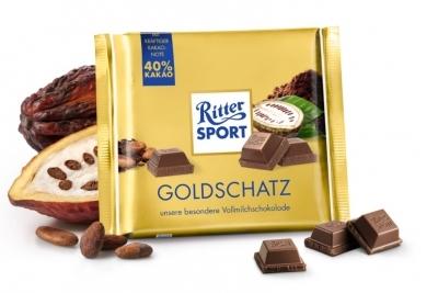 Молочный шоколад  Ritter Sport  Goldschatz 40% какао 250гр.