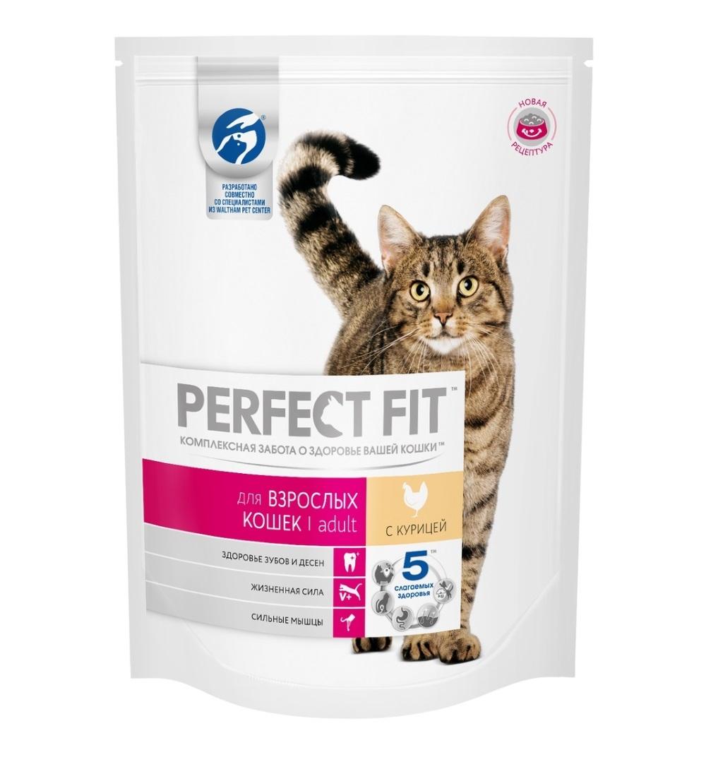 Сухой корм  Перфект Фит  для взрослой кошки 190гр.