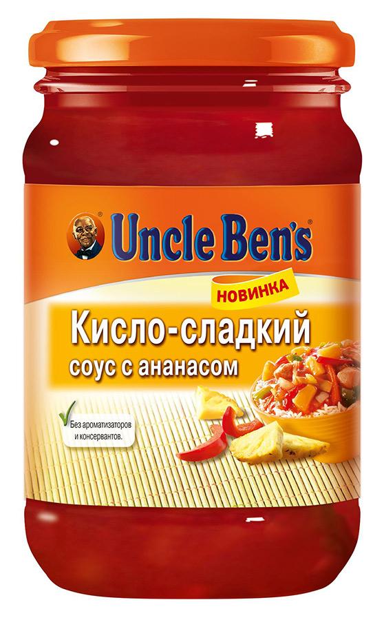 Соус  Анкл Бенс  кислосладкий с ананасом 210гр.