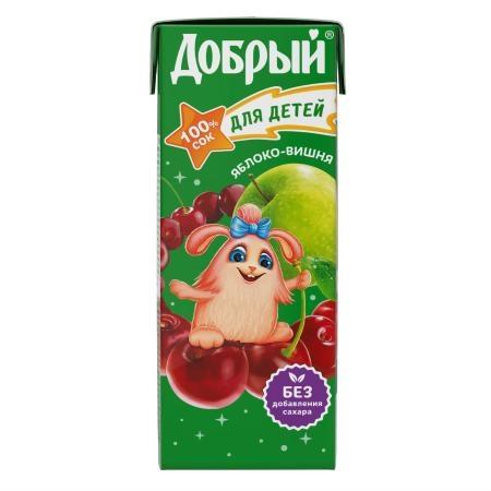 Сок  Добрый  яблоко-вишня 0.2л