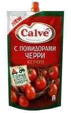 Кетчуп  Кальве  с кусочками помидоров черри 350гр.