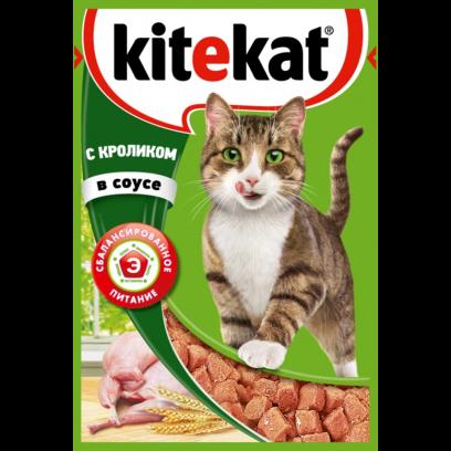Корм для кошек  Китекат  кролик в соусе 85гр.