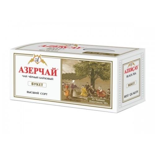 Чай  Азерчай  черный Байховый Букет 25*2гр.