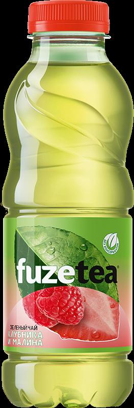 Чай зеленый  Fuze  клубника/малина 0.5л