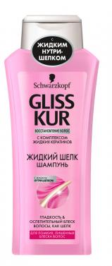 Шампунь  Gliss Kur  жидкий шелк 250мл.