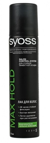 Лак для волос  Syoss Mini max Hold  максимальная сильная фиксация 400мл.