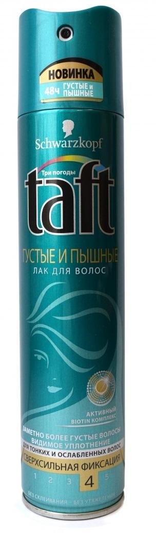 Лак для волос  Taft  Густые и Пышные сверхсильная фиксация 225мл.