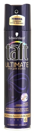 Лак для волос  Taft  Ultimate экстремальная фиксация 225мл.