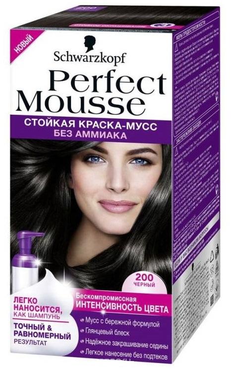 Краска для волос  Perfect Mousse  черный 92.5мл.