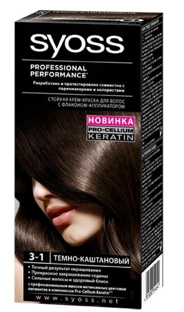 Краска для волос  Syoss Color  темно-каштановый 115мл.