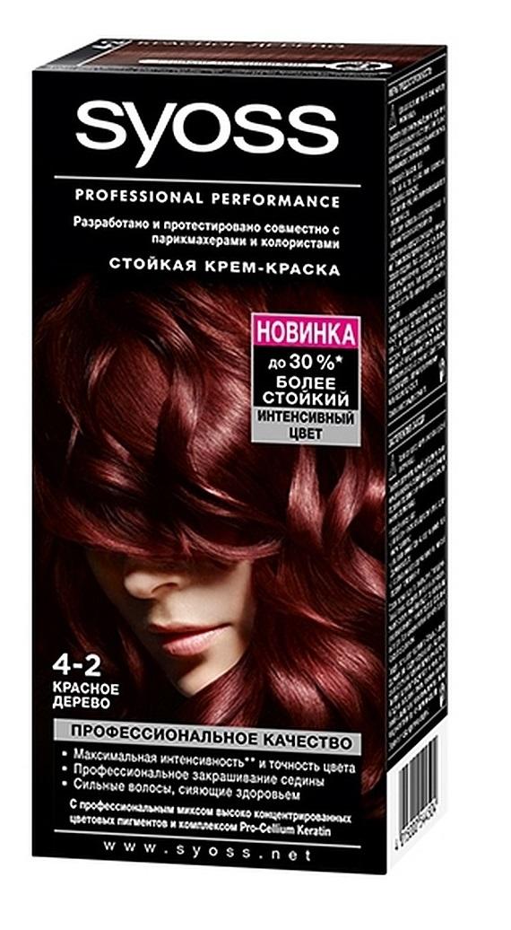 Краска для волос  Syoss Color  красное дерево 115мл.