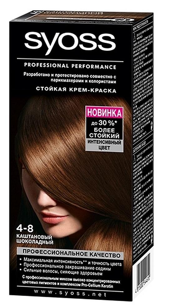 Краска для волос  Syoss Color  каштаново-шоколадный 115мл.