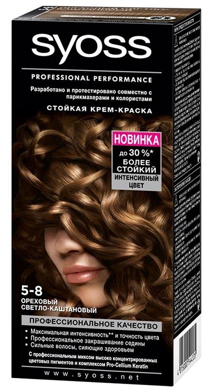 Краска для волос  Syoss Color  ореховый светло-каштановый 115мл.
