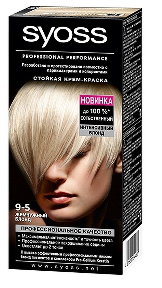 Краска для волос  Syoss Color  жемчужный блонд 115мл.