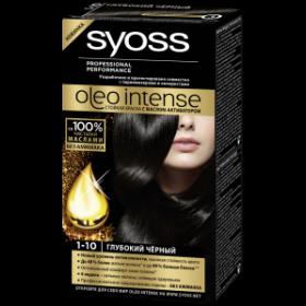 Краска для волос  Syoss Oleo Intense  глубокий черный 50мл.