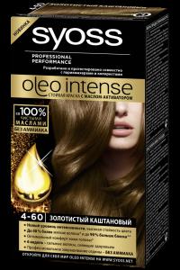 Краска для волос  Syoss Oleo Intense  золотисто-каштановый 50мл.