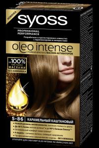 Краска для волос  Syoss Oleo Intense  карамельно-кашатановый 50мл.