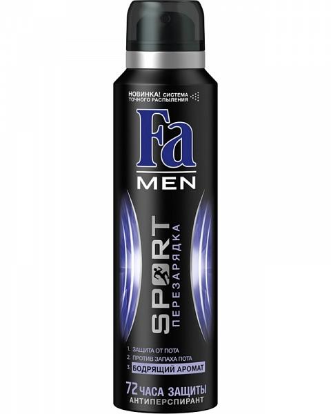 Дезодорант-антиперспирант аэрозоль  Fa MEN  Sport Перезарядка 150мл.
