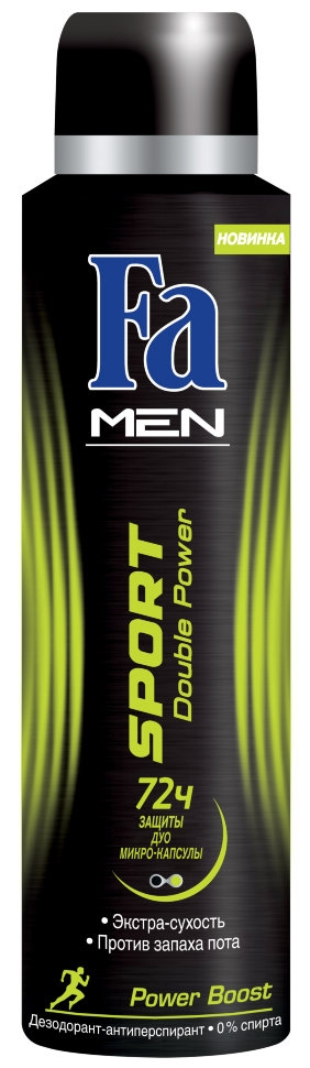 Дезодорант-антиперспирант  Fa Men  двойное действие взрыв свежести 150мл.