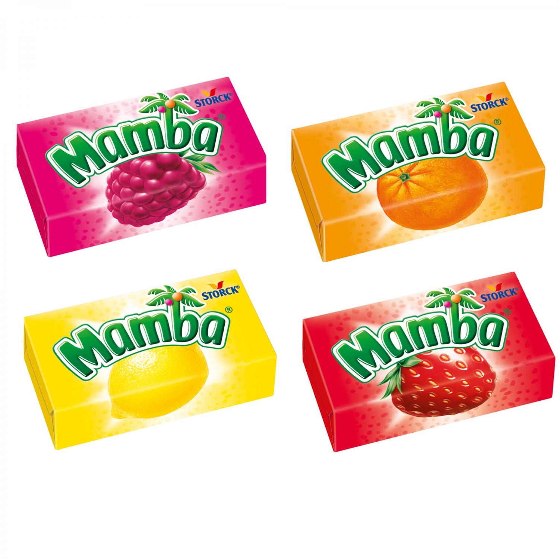 Жевательные конфеты  Мамба  ассорти 26.5гр