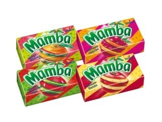 Жевательные конфеты  Мамба  2в1 26.5гр.