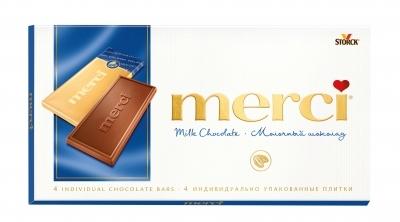 Шоколад  Мерси  молочный 100гр.