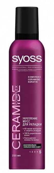 Мусс для волос  Syoss  Ceramide максимально сильная фиксация 250мл.