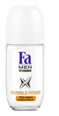 Роликовый дезодорант-антиперспирант  Fa Men  Xtreme Invisible Power 50мл.