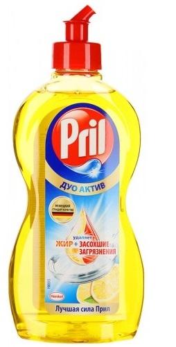 Средство для мытья посуды  Pril  Дуо Актив Лимон 450мл.