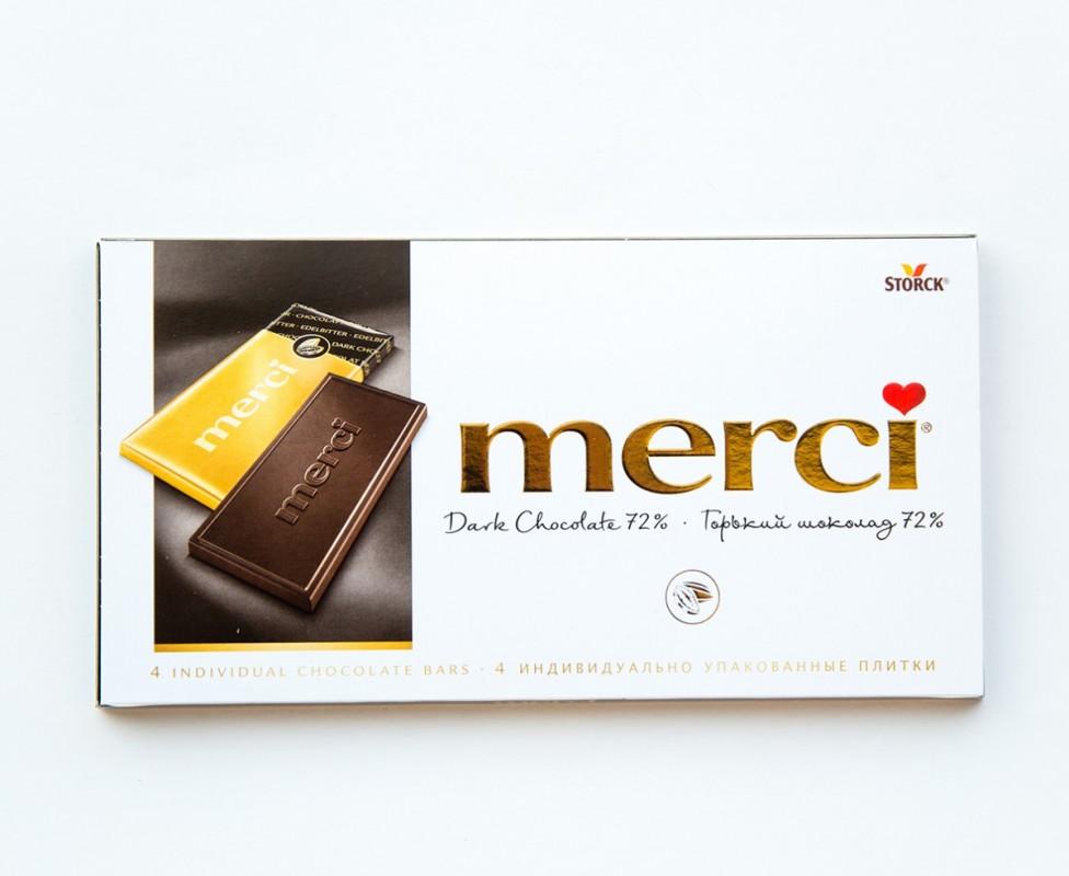Шоколад  Мерси  горький 72% 100гр.