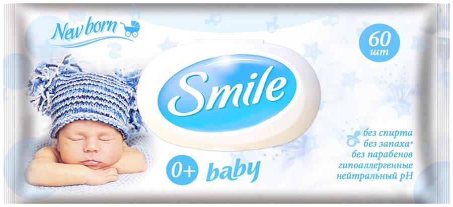 SMILE BABY ФИТОЛИНИЯ ВЛАЖ.САЛФЕТКИ С КЛАПАНОМ 60 ШТ
