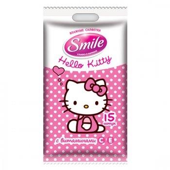 Влажные салфетки  Smile  с Китти 15шт.