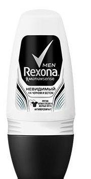 Дезодорант  Rexona  Men невидимый на черном и белом 50мл.