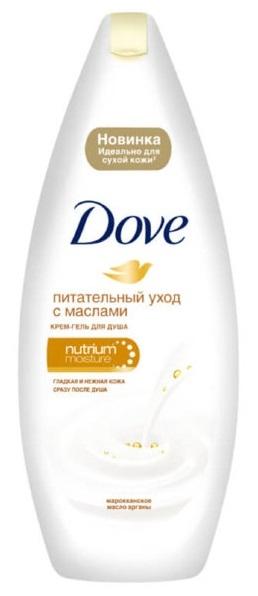 Крем-гель для душа  Dove  с драгоценными маслами 250мл.